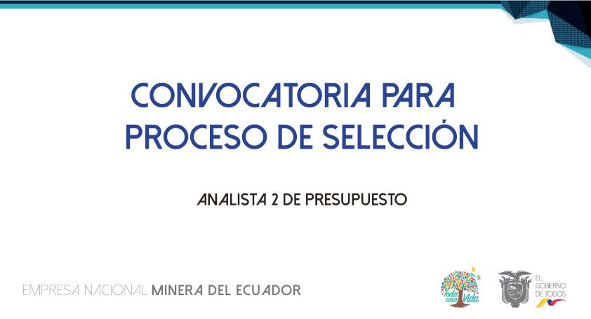 Proceso de selección   Analista 2 de Presupuesto